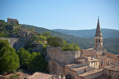 View of Saint Saturnin d Apt, Provence, France Royalty Free Stock Photography