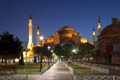 View of Saint Sophia at night Royalty Free Stock Image