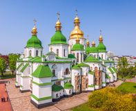 View of Saint Sophia`s Cathedral from the Bell Tower.Kiev.Ukraine stock photos