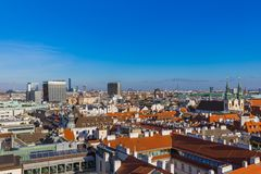 View from Saint Stephan cathedral in Vienna Austria. Cityscape architecture background Royalty Free Stock Image