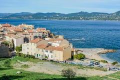 The town of Saint-Tropez stock photo