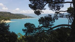 View of the Sainte Croix du Verdon lake in Provence, France, Europe royalty free stock photos