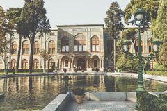 View of Salam Hall building, part of Golestan Palace in Tehran,. Capital of Iran Stock Photography