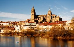 View of Salamanca, Spain. View of Salamanca's cathedral in Spain, Europe Stock Image