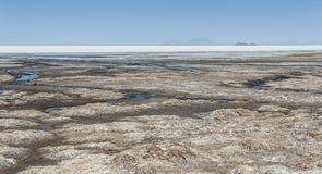 View of Salar de Uyuni from Coquesa - Thaua Village, Bolivia Stock Photo