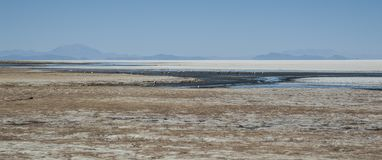 View of Salar de Uyuni from Coquesa - Thaua Village, Bolivia Royalty Free Stock Images