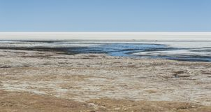 View of Salar de Uyuni from Coquesa - Thaua Village, Bolivia Royalty Free Stock Photos