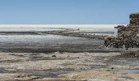 View of Salar de Uyuni from Coquesa - Thaua Village, Bolivia Royalty Free Stock Photo