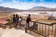 View of Salinas  in Sal Cape Verde - Cabo Verde Islands Royalty Free Stock Photography