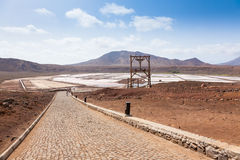 View of Salinas  in Sal Cape Verde - Cabo Verde Islands. View of Salinas  in Sal Cape Verde  Cabo Verde Islands Royalty Free Stock Photos