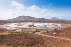 View of Salinas  in Sal Cape Verde - Cabo Verde Islands Royalty Free Stock Images