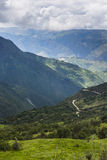 View from the Salkantay trail. At Cuzco, Peru Royalty Free Stock Image
