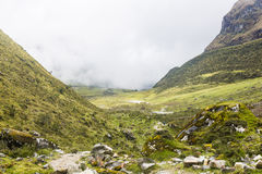 View from the Salkantay trail. At Cuzco, Peru Royalty Free Stock Photo