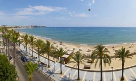 View of Salou Platja Llarga Beach in Spain Royalty Free Stock Photo