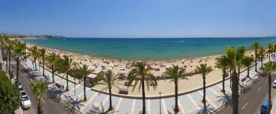 View of Salou Platja Llarga Beach in Spain Royalty Free Stock Photos