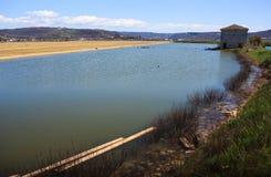 View of Salt evaporation ponds in Secovlje Royalty Free Stock Photos