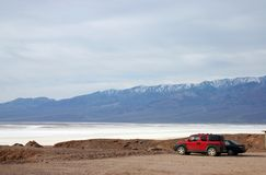 A view of salt lake in Death Valley Stock Image