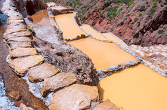View of Salt ponds,  Cuzco, Peru Royalty Free Stock Images