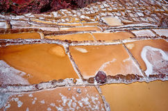 View of Salt ponds, Maras, Cuzco, Peru Royalty Free Stock Image