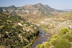 View of Salt River. Scenic view of the Salt River Canyon in Arizona Royalty Free Stock Photo