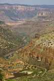 View of Salt River. Scenic view of the Salt River Canyon in Arizona Stock Image