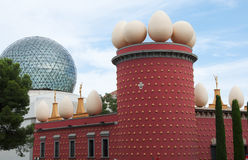View of Salvador Dali museum in Fugueres, Spain. Royalty Free Stock Images