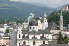 View of Salzburg. A view of the church spires of Salzburg, Austria Stock Photos