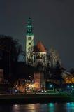 View of Salzburg, Austria at night Royalty Free Stock Photos