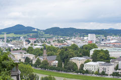 View on Salzburg from the top. Royalty Free Stock Photography