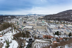 View on Salzburg from the tower of Hohensalzburg castle Royalty Free Stock Images