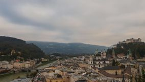 View of Salzburg stock footage