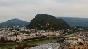 View of Salzburg stock video footage