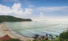 View of  Samae Beach white sandy beach at Koh Lan, Pattaya Thailand.One of the most beautiful island in Thailand. Stock Photos