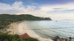 View of  Samae Beach white sandy beach at Koh Lan, Pattaya Thailand.One of the most beautiful island in Thailand. Royalty Free Stock Photography