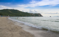 View of  Samae Beach white sandy beach at Koh Lan, Pattaya Thailand.One of the most beautiful island in Thailand. Stock Photography