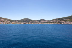 View of Samos Town Royalty Free Stock Photo