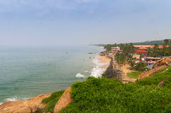 View of the Samudra beach in Kovalam. Kerala. India royalty free stock photography