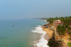 View of the Samudra beach in Kovalam. Kerala. India stock photography