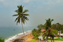 View of the Samudra beach in Kovalam. Kerala. India royalty free stock photos