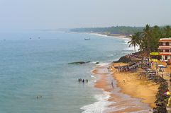 View of the Samudra beach in Kovalam. Kerala. India stock image