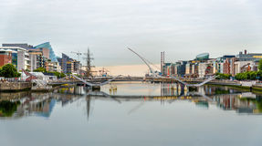 View of Samuel Beckett Bridge in Dublin Royalty Free Stock Images