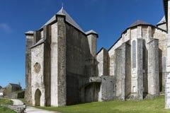 View of the San Agustín Chapel. Roncesvalles. Spain. Stock Photos