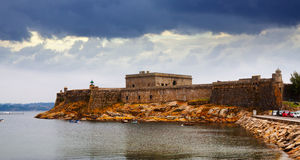 View of San Anton Castle in  A Coruna Stock Images