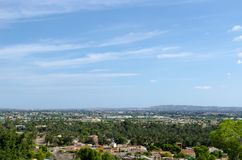 View of San Anton. From a height. panorama of the Spanish city. landscape with small houses in Spain Royalty Free Stock Images