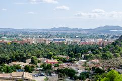View of San Anton. From a height. panorama of the Spanish city. landscape with small houses in Spain Stock Photos