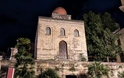 View of San Cataldo Catholic Church at night, Palermo, Sicily Royalty Free Stock Photography