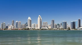 A View of San Diego Bay and Downtown stock photography