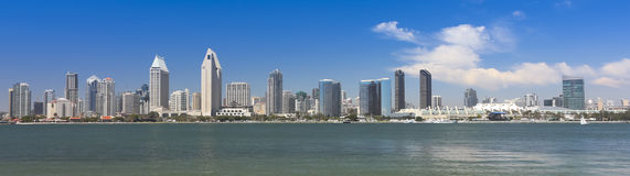 A View of San Diego Bay and Downtown. San Diego on a Sunny Day royalty free stock image