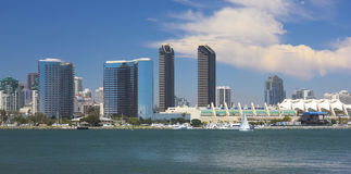 A View of San Diego Bay and Downtown. San Diego on a Sunny Day royalty free stock images