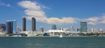 A View of San Diego Bay and Downtown Stock Photo